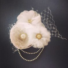wedding flower hair pieces  Over at clip it up on Facebook come over and like my page :)