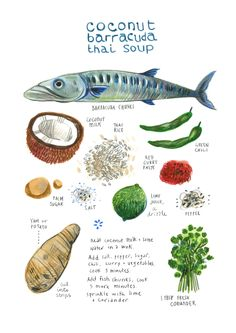 felicita sala illustration: illustrated recipes: november