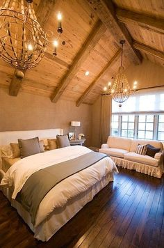 226 Best For the Home images in 2019   Diy ideas for home ... Decorating With Vaulted Ceilings In Attic Bedroom Html on