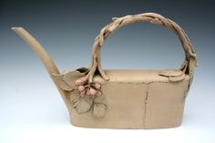 Rustic earthenware teapot with berries by HouseOfCeramics on Etsy, $325.00