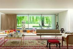 Miller House and Garden in Columbus, Indiana. Designers: Eero Saarinen, Alexander Girard, and Dan Kiley.  Owned and cared for by the Indianapolis Museum of Art
