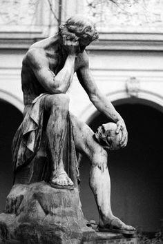 64 Trendy body art men photography black and white Renaissance Kunst, Greek Statues, Buddha Statues, Art Sculpture, Sculpture Ideas, Sculpture Museum, Roman Sculpture, Clay Sculptures, Greek Art