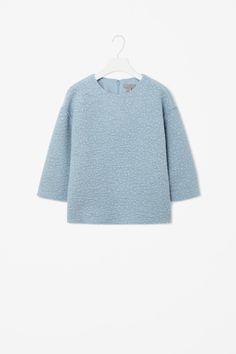 Raw edge wool top