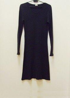Kup mój przedmiot na #vintedpl http://www.vinted.pl/damska-odziez/dlugie-sukienki/17764266-wymiana-30-zl-sukienka-midi-grafitowa-prazkowana-dzianina-galla-36