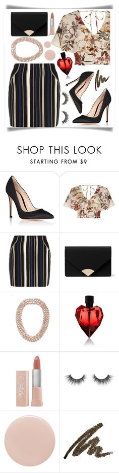 """""""Striped & Floral 😍"""" by samahdasan ❤ liked on Polyvore featuring Gianvito Rossi, River Island, 3.1 Phillip Lim, MICHAEL Michael Kors, Maybelline and Tom Ford"""