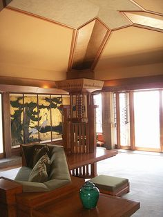 Chapter 22 Modern Forerunners: Hollyhock House (Barnsdall House) Interior. Los Angeles, CA