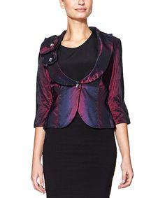 Love this Dark Blue & Violet Shawl-Collar Blazer by Paphia on #zulily! #zulilyfinds