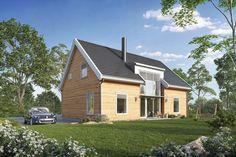 Passivhus med saltak | Movik | Et moderne hus fra Blink Hus