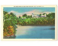 Flat Rock North Carolina vintage postcard  by Postcardigans