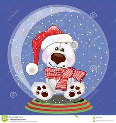 Santa Polar Bear stock vector. Image of polar, cute, glass - 48024910