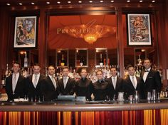 The staff at the Principe Bar!