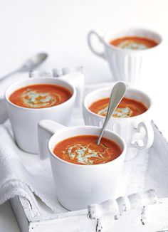 Indian spices, chilli and tamarind give a real kick to this tomato soup. It's so healthy it's practically fat-free so if you want an extra hearty dish just add a handful of cooked rice or serve with naans.