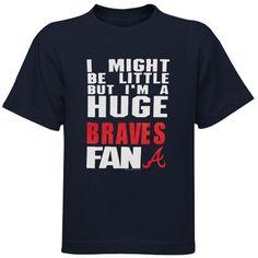 Atlanta Braves Toddler Huge Fan T-Shirt - Navy Blue