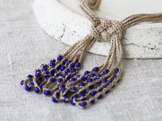 Knot necklace by 100crochetnecklaces