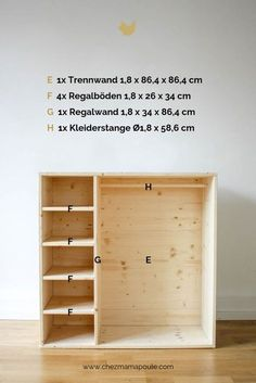 DIY furniture: wardrobe for children, this wood needs to make furniture itself and set up a Montessori nursery. DIY furniture: wardrobe for children, this wood needs to make furniture itself and set up a Montessori nursery. Kids Bedroom Furniture, Pallet Furniture, Furniture Making, Home Furniture, Furniture Design, Modern Furniture, Furniture Ideas, Rustic Furniture, Children Furniture