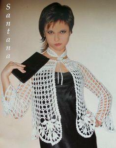 Patrones Crochet: Chaqueta Bordes Redondeados Patron
