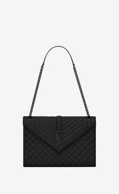 946ce08427b789 Envelope large bag in grain de poudre embossed leather Gros Grain, Large  Envelope, Louis