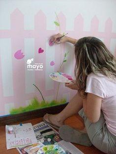 Crea la decoración del cuarto de tus hijos.