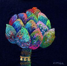 flora by kimikahara ( embroidered art) via @Design Mom