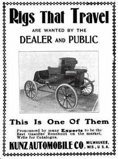 1902 Kunz Automobile Advertisement
