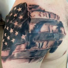 american flag shoulder tattoos - Google Search