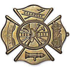 Firefighter Maltese Cross Plaque in Cast Brass Maltese Cross | Etsy