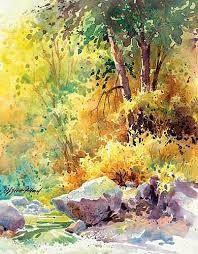 """Résultat de recherche d'images pour """"painting the autumn landscape watercolor unleashed with julie gilbert pollard"""""""