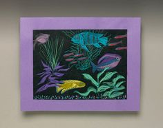 Glow-Fish Under the Sea lesson plan - This would be a fun way to draw creepy underwater animals.