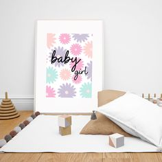 Baby Girl Wall Art, Instant Download Printable Poster Girls Nursery Room Decor. This is the perfect gift for new parents or just for your own baby girl. #babygirl #babygirldecor #walldecor #printablewallart #digitaldownload #kidsroom #playroom #girlgifts #homedecor #kidswallart #minimalistwallart #pinkwallart Nursery Room Decor, Nursery Wall Art, Girl Nursery, Wall Decor, Pink Wall Art, Minimalist Room, Gifts For New Parents, Kidsroom, Girl Gifts