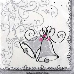 Wedding Style Lunch Napkins 16ct