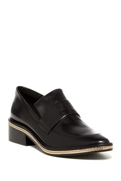 Rachel Zoe Black & Gold Brody Loafer