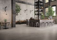 Tr3nd by Ergon  #emilgroup #tiles #ceramics #floortiles #concreteeffect #majolicaeffect #woodeffect #interiordesign #madeinitaly #architecture #style #restaurant #elegance #minimal #pattern #texure