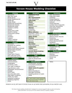 wedding ceremony checklist | Photography Checklist Wedding ...