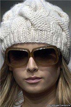 Шапка косами burberry - шапки.береты.шарфы. - вязание спицами для женщин. - Каталог файлов - вязание-это модно.