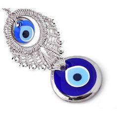 Evil Eye Amulet from Istanbul Goodluck Charms, Turkish Eye, Greek Evil Eye, Evil Eye Jewelry, Hamsa Hand, Amulets, Silver, Wall Hangings, Istanbul