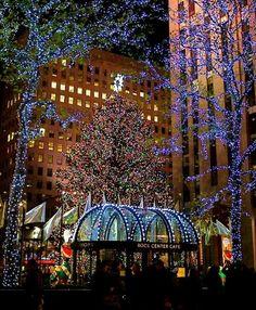 City Lights and Christmas Lights