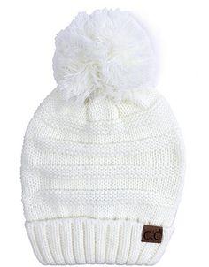 Oversized CC Beanie Cable Knit Beanie with Pompom - Ivory. Cc BeanieBeanie  HatsRider ... 253f727da915
