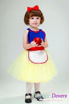Snow White apron girls tutu apron Princess childrens full apron birthday kids apron  gift on Etsy, $28.00