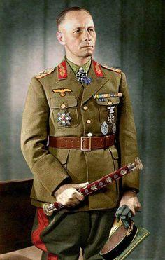 Erwin Rommel color pic
