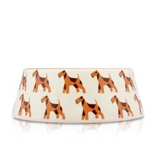 Airedale Dog Bowl S Orange by Argento