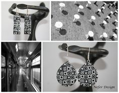 Black and white polymer clay