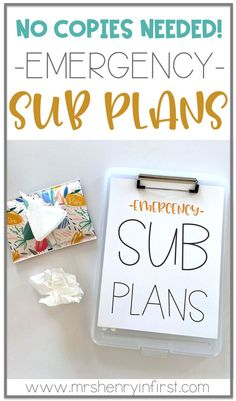 Save these Sub Plans for a true emergency! No Copies Needed! For grades and from Samantha Henry Save these Sub Plans for a true emergency! No Copies Needed! For grades and from Samantha Henry The Plan, How To Plan, Sub Plans Template, Lesson Plan Templates, Teaching Plan, Teaching Tips, Teaching Supplies, Teaching Music, Teacher Freebies