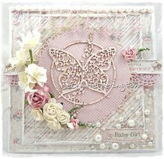 Good afternoon, Becky here today, I have just woken up after my nightshift so it feels like morning to me ;) I love seeing the diffe. Owl Punch, Easel Cards, Butterfly Cards, Love Craft, Pretty Cards, Beautiful Butterflies, Handmade Flowers, Projects To Try, Shabby Chic
