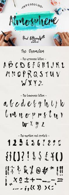Atmosphere Script Typface by Yasir Ekinci. Handpainted modern calligraphy font.                                                                                                                                                                                 Más