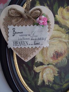 hessian wooden gift tag