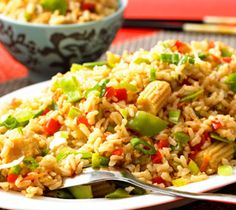 Eight-Vegetable Fried Rice: This is a nutritious twist on a classic Chinese dish.