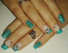 Teal, bows, and cute stripes
