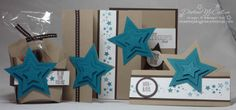 www.dreamingaboutrubberstamps.com - I made this set for Father's Day with the Be the Star stamp set, stars framelits and fry box bigz die all from Stampin' Up!