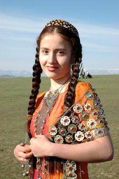 A Turkmen girl.