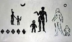 A.R. Penck, Three Women  Calligraphic
